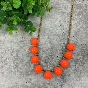 J. Crew Bubble Statement Orange Necklace